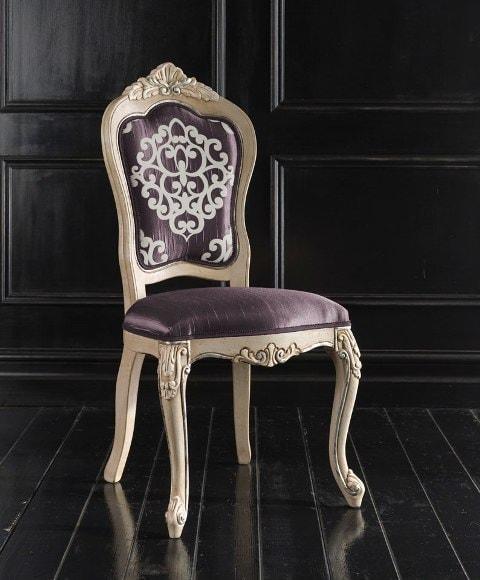 италиански трапезен стол в класически стил, модел Cresta - Sevensedie