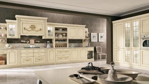 модулна италианска кухня в класически стил, модел Opera