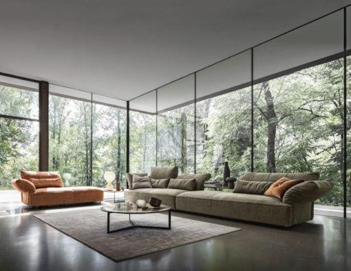 луксозен италиански модулен диван модел Brera от фабрика Nicoline