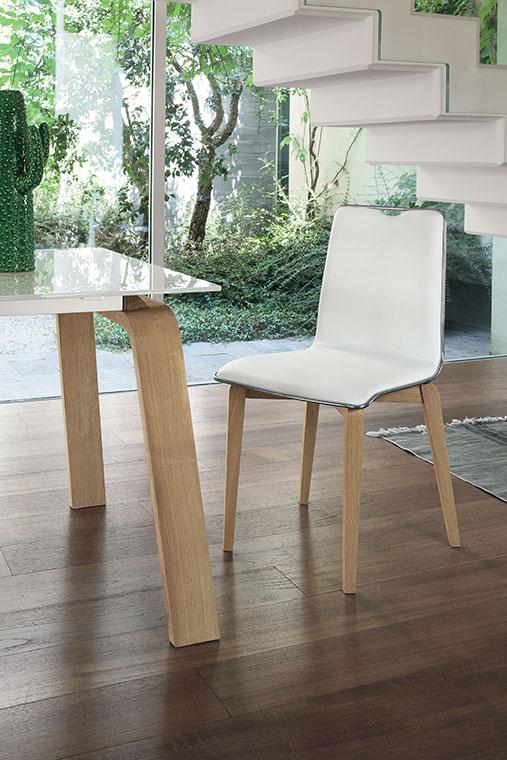 луксозен италиански трапезен стол модел Losanna фабрика Target Point